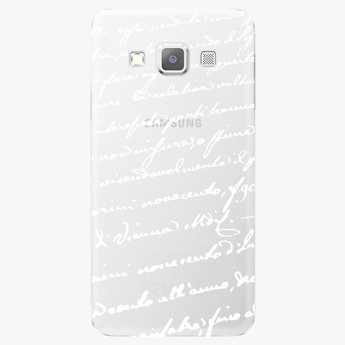 Plastový kryt iSaprio - Handwiting 01 - white - Samsung Galaxy A5