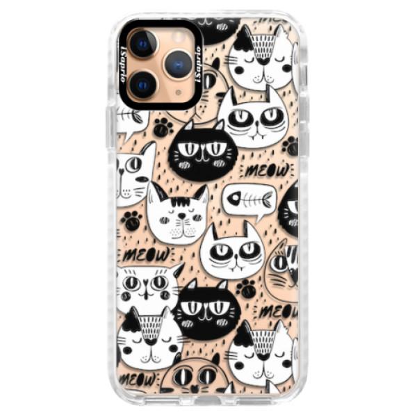 Silikonové pouzdro Bumper iSaprio - Cat pattern 03 - iPhone 11 Pro