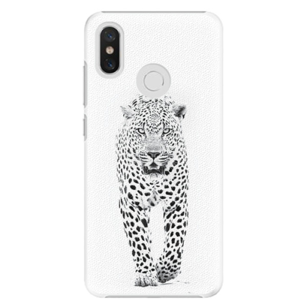 Plastové pouzdro iSaprio - White Jaguar - Xiaomi Mi 8