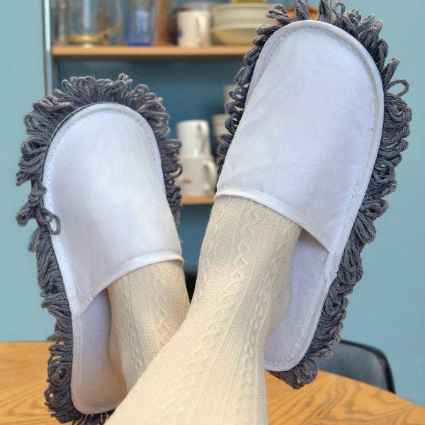 Pantofle a mop - 2v1