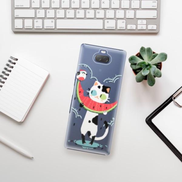 Plastové pouzdro iSaprio - Cat with melon - Sony Xperia 10 Plus