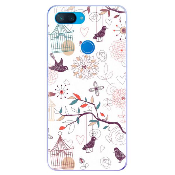 Odolné silikonové pouzdro iSaprio - Birds - Xiaomi Mi 8 Lite