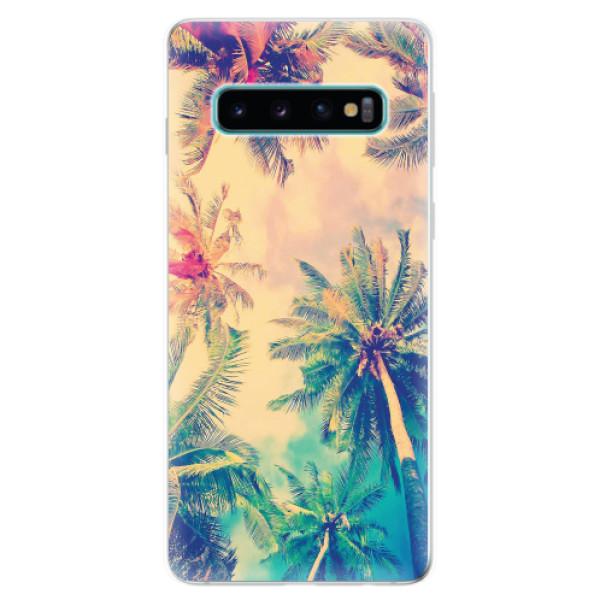 Odolné silikonové pouzdro iSaprio - Palm Beach - Samsung Galaxy S10