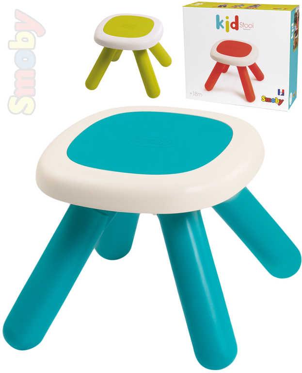 SMOBY Baby stolička dětská 33x33x27cm různé barvy plast pro miminko