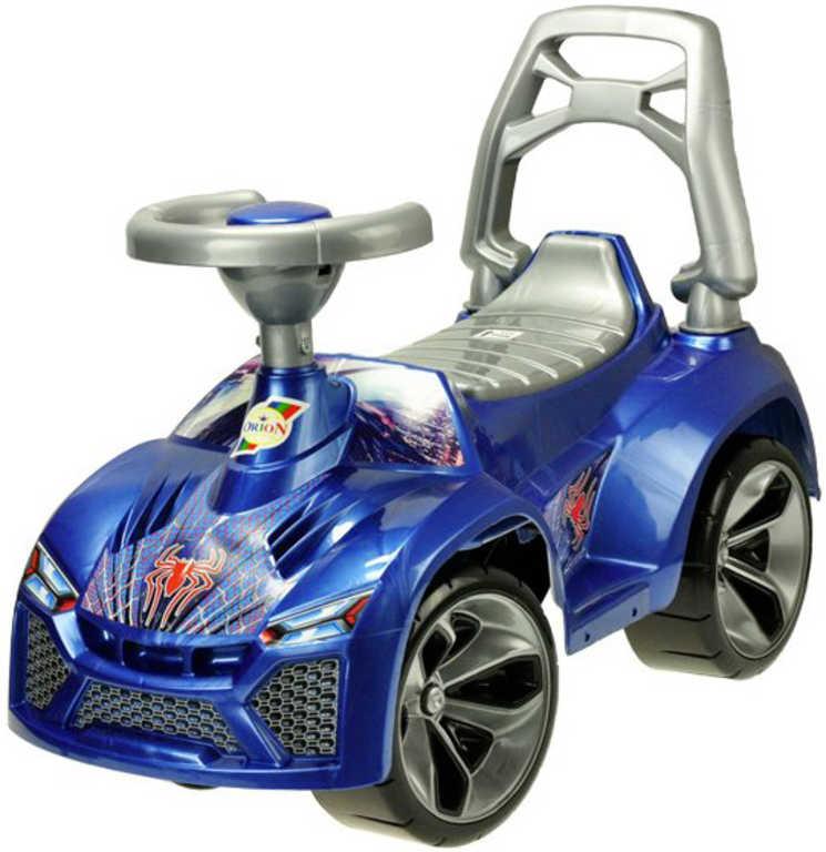 Auto dětské odrážedlo 70cm odstrkovadlo s klaksonem modré v sáčku
