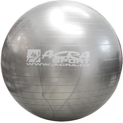 ACRA Míč gymnastický stříbrný 75cm fitness balon rehabilitační do 150kg