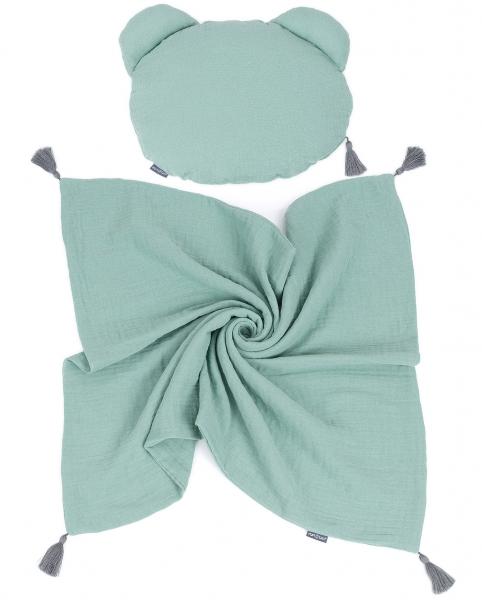 mamo-tato-muselinova-sada-polstarek-teddy-lux-double-s-dekou-70x90cm-zelena