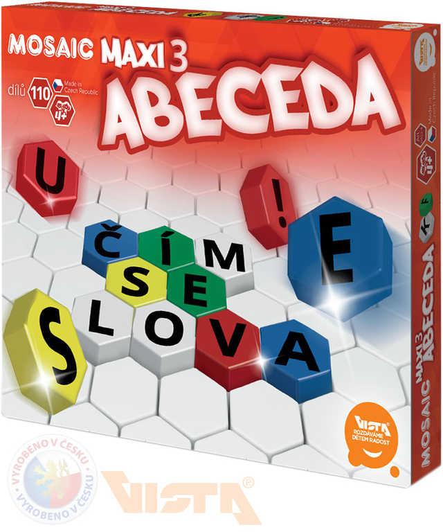 VISTA Mosaic Maxi 3 Abeceda Stavebnice mozaiková 110 dílků v krabici plast