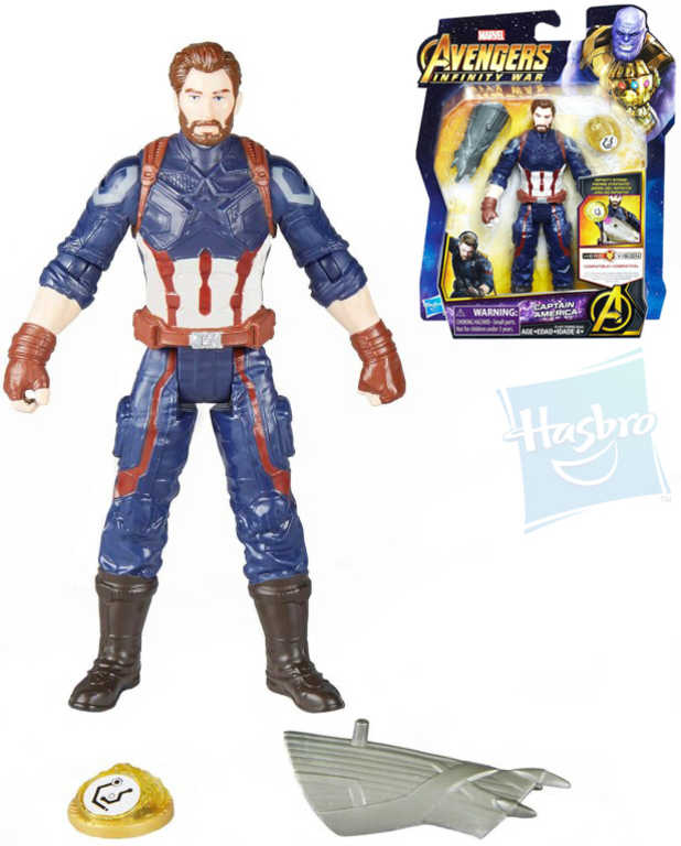 HASBRO Avengers Infinity War figurka akční 15cm Captain America plast
