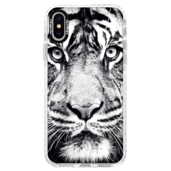 Silikonové pouzdro Bumper iSaprio - Tiger Face - iPhone X