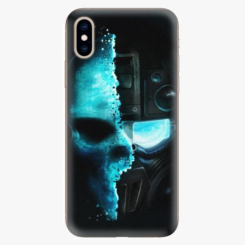 Plastový kryt iSaprio - Roboskull - iPhone XS