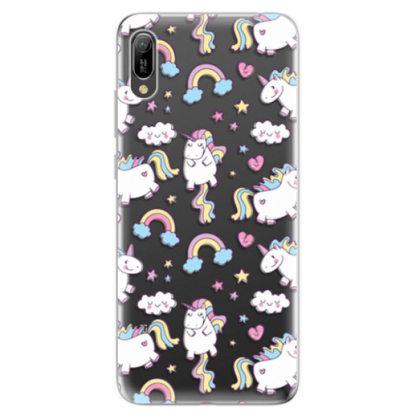 Odolné silikonové pouzdro iSaprio - Unicorn pattern 02 - Huawei Y6 2019