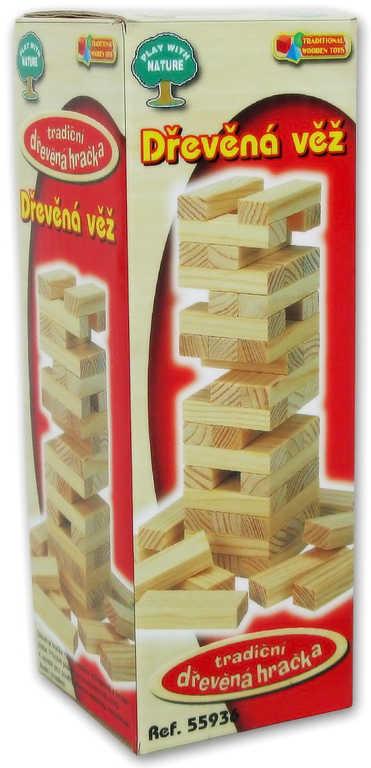 DŘEVO Hra věž stavebnice 14cm jenga *DŘEVĚNÉ HRAČKY*
