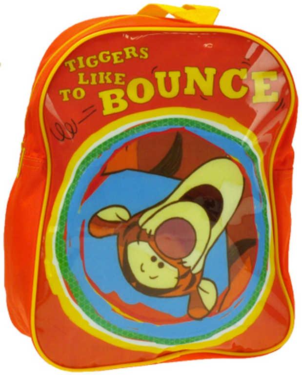 Batůžek dětský Medvídek Pú 27x34cm oranžový