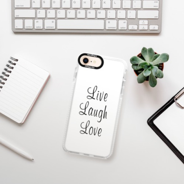 Silikonové pouzdro Bumper iSaprio - Live Laugh Love - iPhone 8
