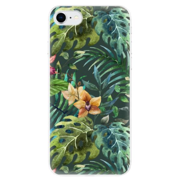 Odolné silikonové pouzdro iSaprio - Tropical Green 02 - iPhone SE 2020