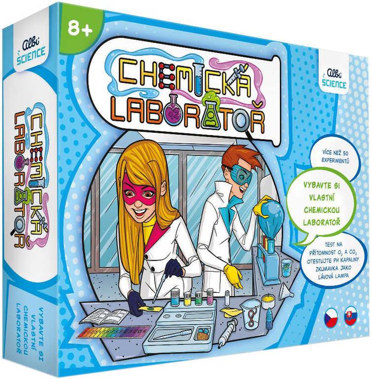 ALBI Science Chemická laboratoř experimentální vědecký set v krabici