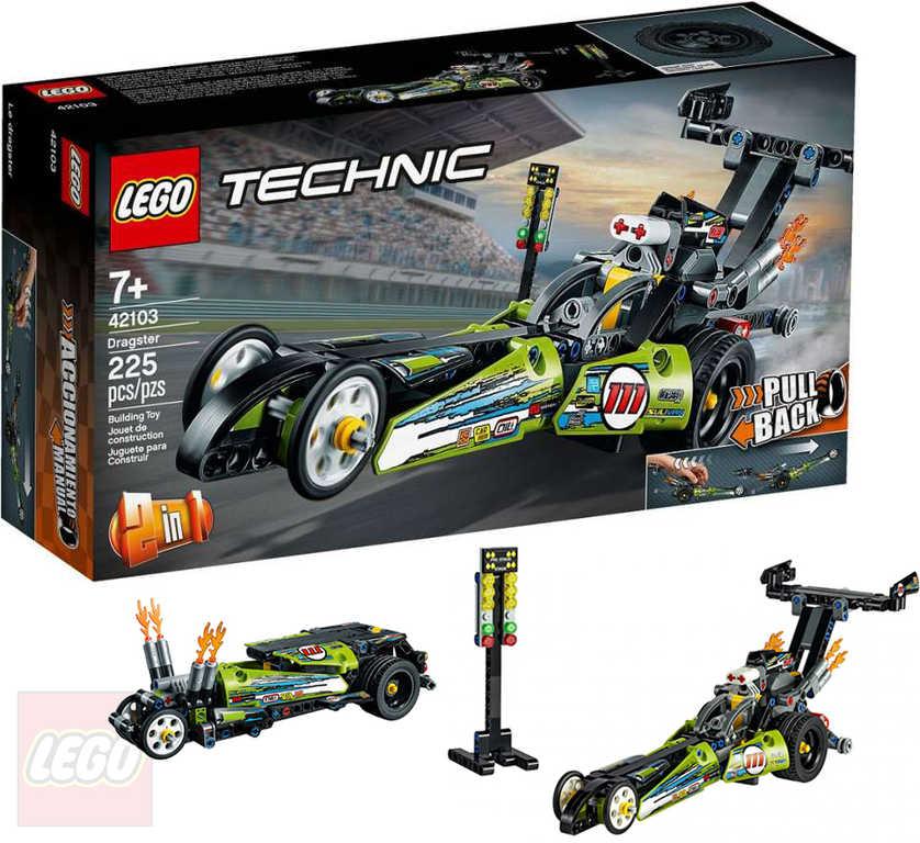 LEGO TECHNIC Dragster 2v1 42103 STAVEBNICE