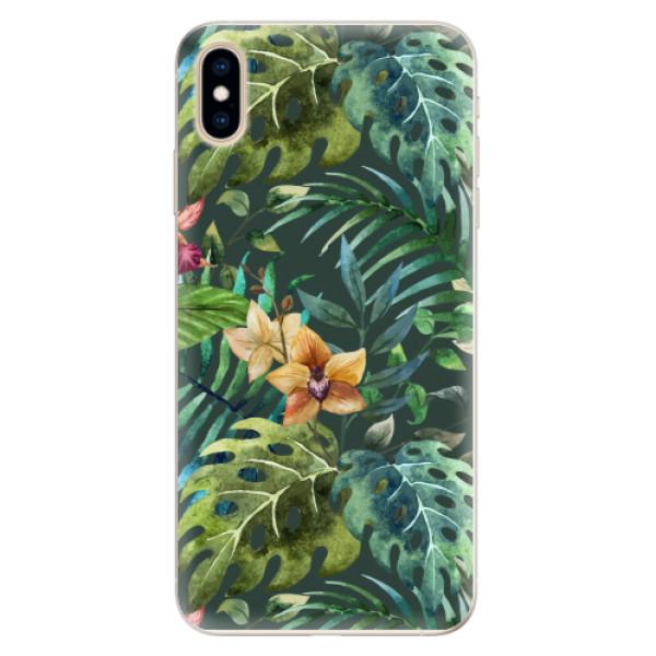 Silikonové pouzdro iSaprio - Tropical Green 02 - iPhone XS Max