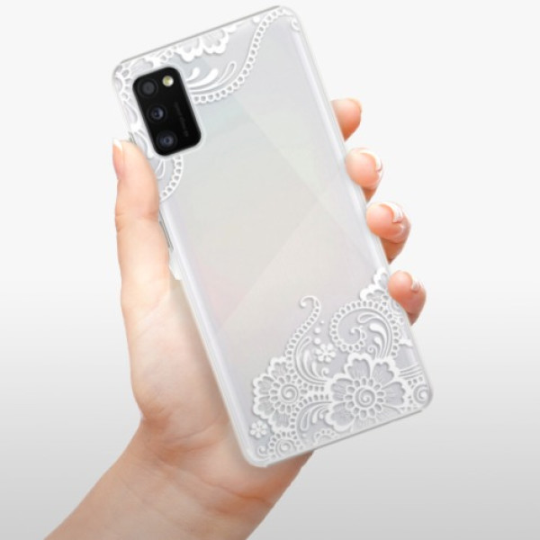 Plastové pouzdro iSaprio - White Lace 02 - Samsung Galaxy A41