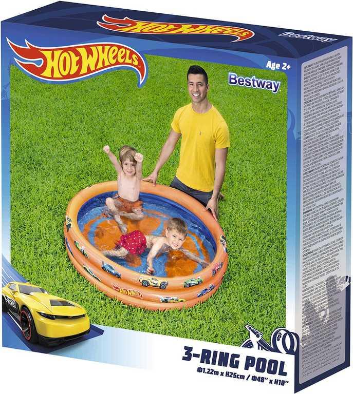 BESTWAY Baby bazén kruhový 122x25cm Hot Wheels nafukovací brouzdaliště