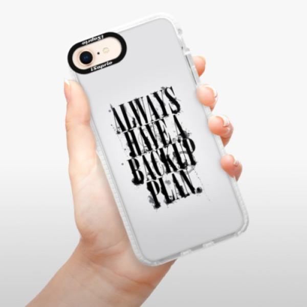 Silikonové pouzdro Bumper iSaprio - Backup Plan - iPhone 8