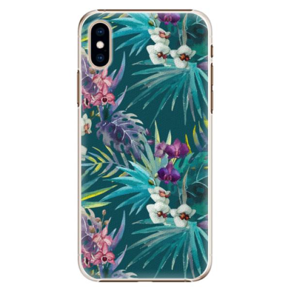 Plastové pouzdro iSaprio - Tropical Blue 01 - iPhone XS