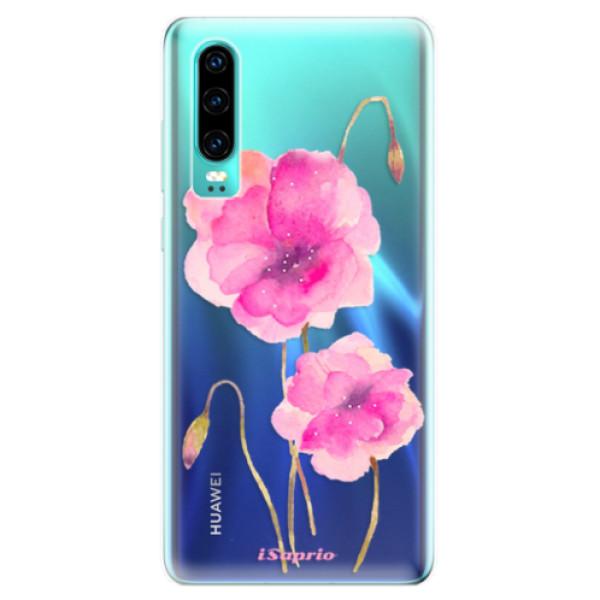 Odolné silikonové pouzdro iSaprio - Poppies 02 - Huawei P30