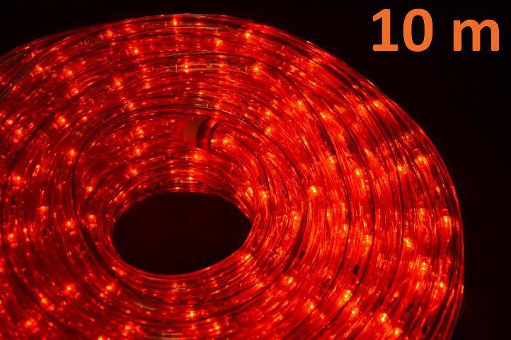 LED světelný kabel 10 m - červená, 240 diod