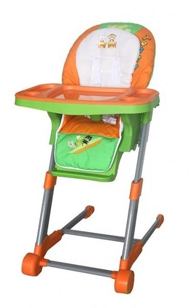Dětská multifunkční jídelní židle Euro Baby - oranžová, zelená
