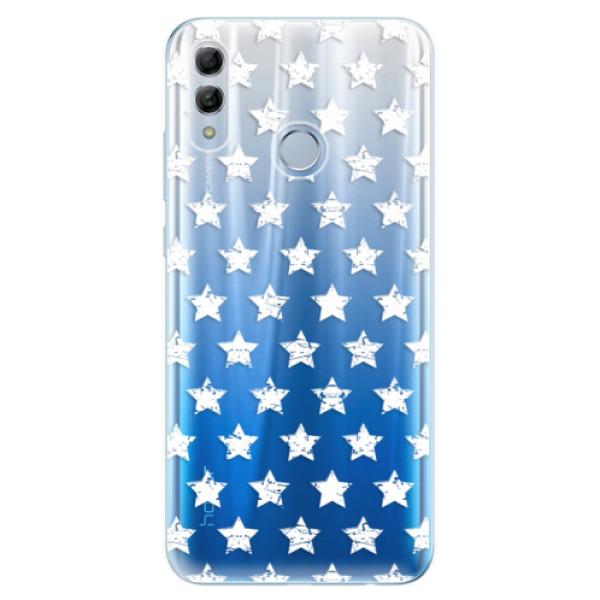 Odolné silikonové pouzdro iSaprio - Stars Pattern - white - Huawei Honor 10 Lite