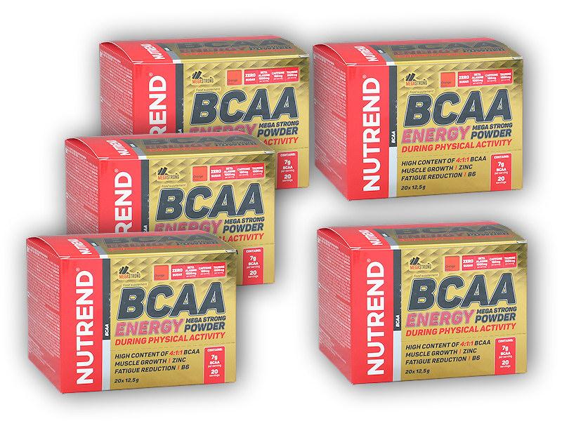 4x BCAA Energy Mega Strong 20x12,5g - +1xZDARMA-pomeranc