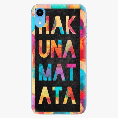 Silikonové pouzdro iSaprio - Hakuna Matata 01 - iPhone XR