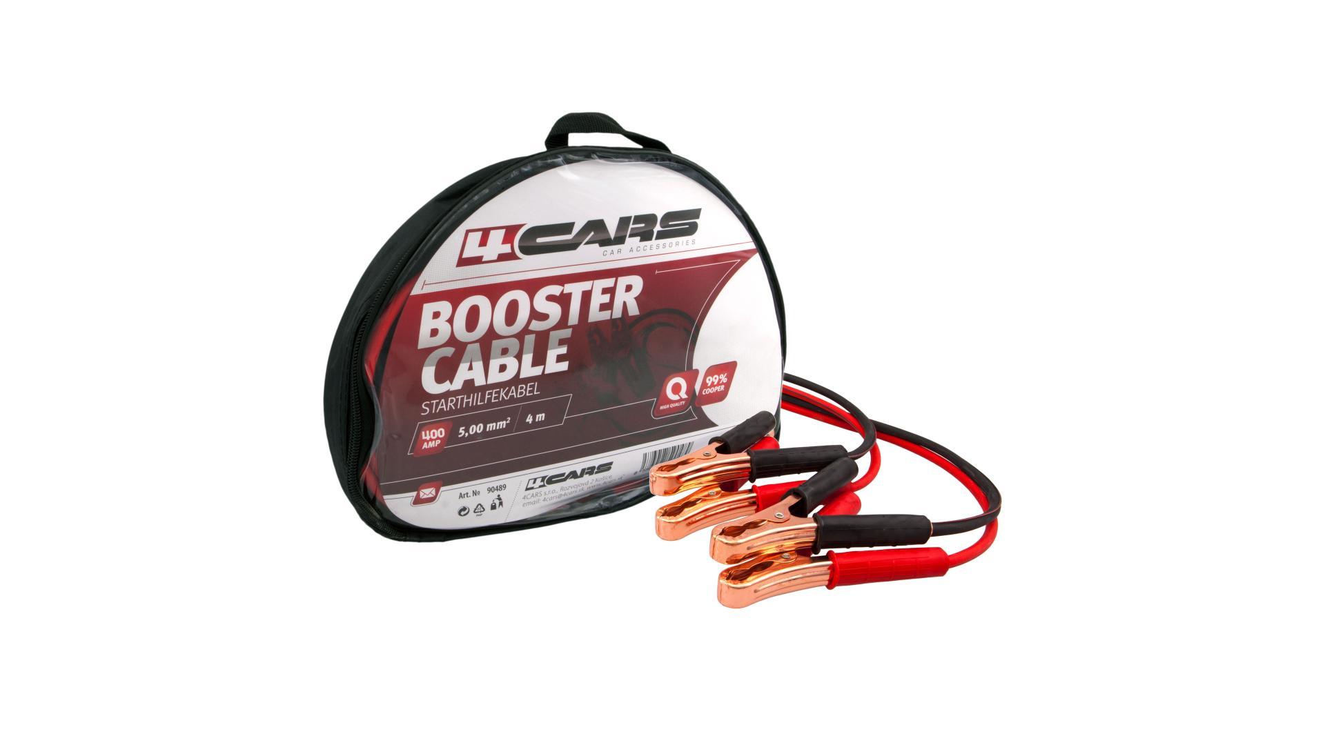 4CARS Startovací kabely 400amp, 5.0mm², 4m