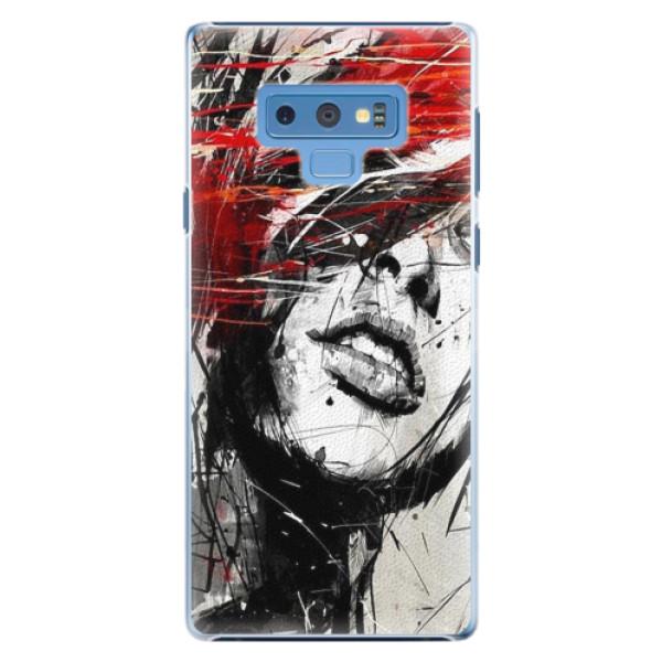 Plastové pouzdro iSaprio - Sketch Face - Samsung Galaxy Note 9