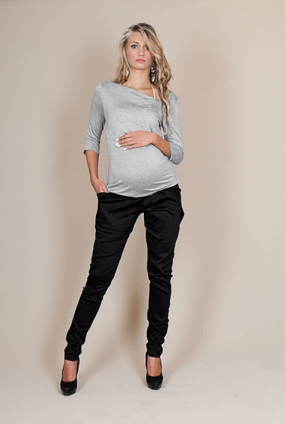 Těhotenské kalhoty ALADINKY - Černé