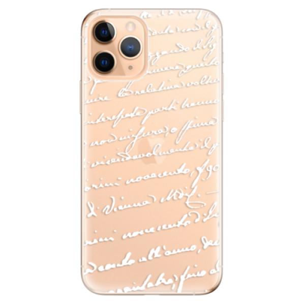Odolné silikonové pouzdro iSaprio - Handwriting 01 - white - iPhone 11 Pro