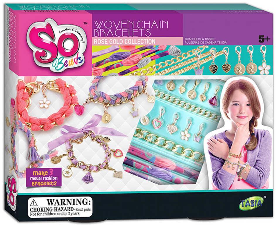 SO BEADS Šperky kreativní set výroba dětské bižuterie v krabici