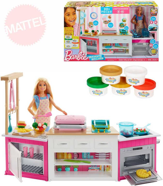 MATTEL BRB Kuchyně snů set panenka Barbie s modelínou a doplňky