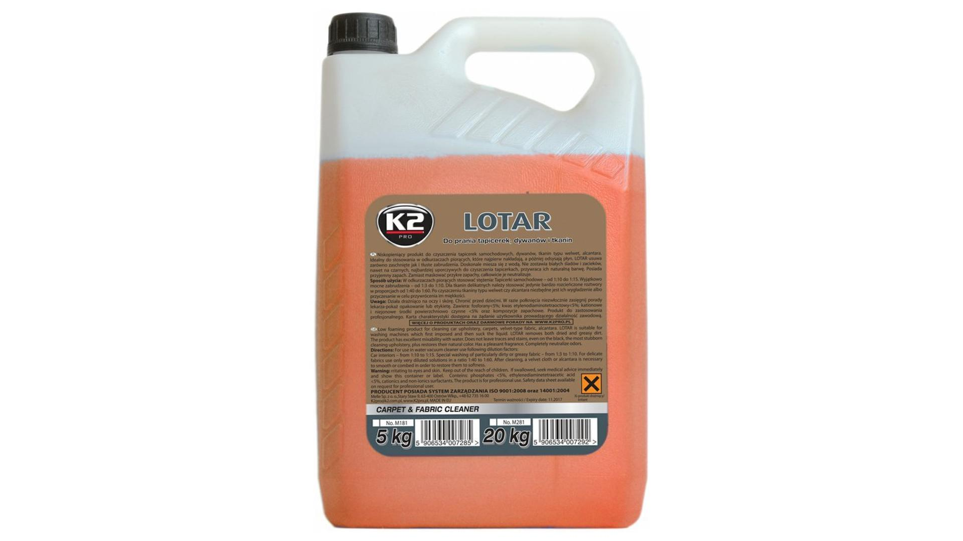 K2 LOTAR 5 kg - čístí koberce a tkaniny
