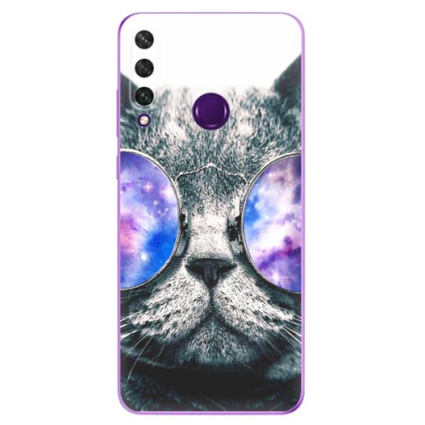 Odolné silikonové pouzdro iSaprio - Galaxy Cat - Huawei Y6p