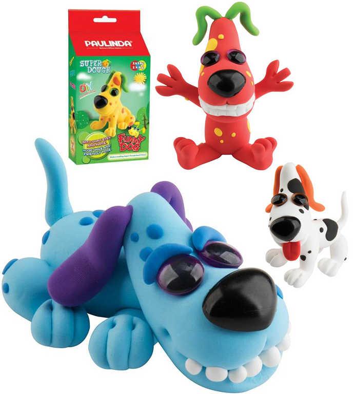 Paulinda Funny Dog pejsek 36g samotvrdnoucí plastelína 6 druhů v krabičce