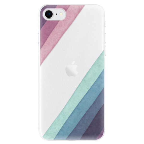 Odolné silikonové pouzdro iSaprio - Glitter Stripes 01 - iPhone SE 2020