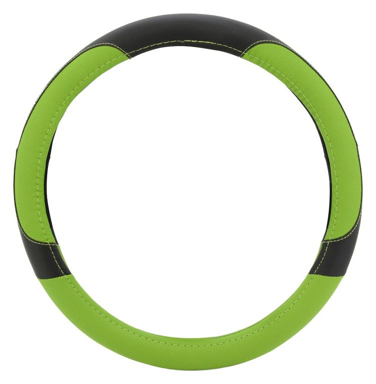 Potah volantu COLOR LINE - zelený/černý