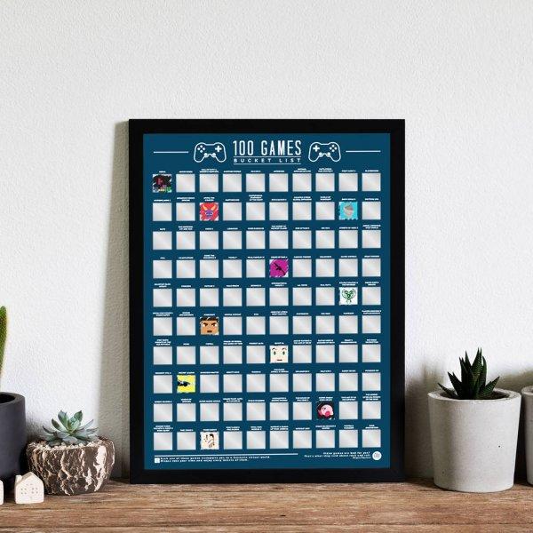 Stírací plakát 100 nejlepších her - Bucket list