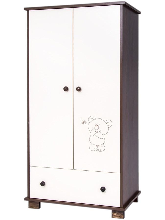 Dětská skříň Drewex Malý medvídek a motýlek ová - ořech