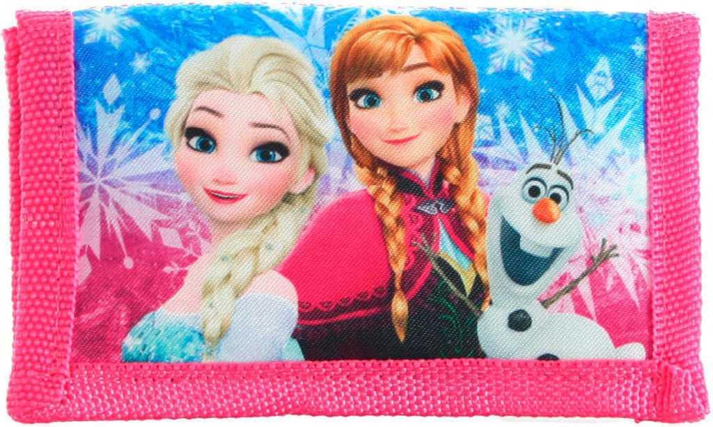 Peněženka dětská Frozen (Ledové Království) růžová 8 kapes