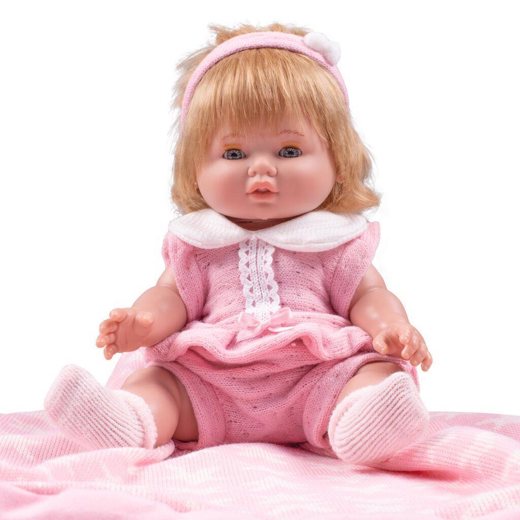 Luxusní dětská panenka-miminko Berbesa Amalia 34cm - růžová
