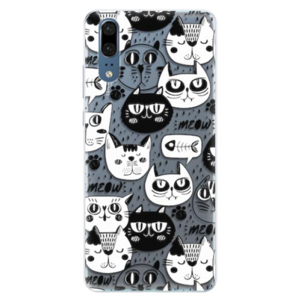 Silikonové pouzdro iSaprio - Cat pattern 03 - Huawei P20