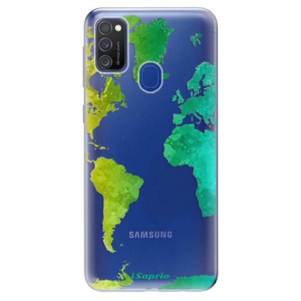 Odolné silikonové pouzdro iSaprio - Cold Map - Samsung Galaxy M21
